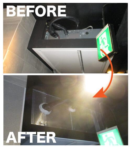ネズミ駆除作業事例8 天井の配線